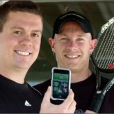 Childhood friends develop, market tennis iPhone app