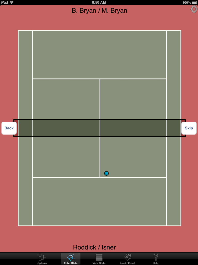 Court view screen for serves